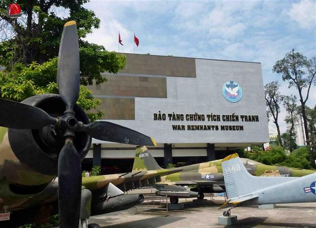 museo vestigios de la guerra en Saigon